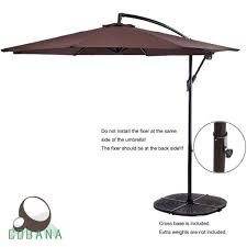 Cantilever Patio Umbrella With Base Relieving Patio Table Set Patio Bistro Set Patiofurniture Table