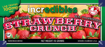 incredibles edibles incredibles 100mg strawberry crunch bar speed marijuana