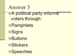 political party identification worksheet answers the best and