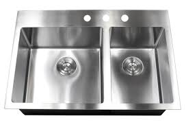 Double Kitchen Sink 33 Inch Drop In Topmount Stainless Steel Kitchen Sink Package By
