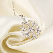 new year jewelry snowflake necklace