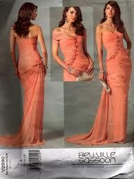 bellville sassoon vogue designer original 2890 draped evening gown
