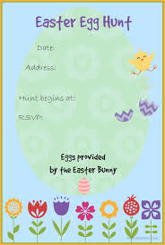 easter egg hunt invitation templates for free u2013 happy easter 2017