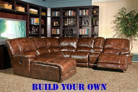 Build Your Own Sofa Sectional Mars Coffee Leather Build Your Own Reclining Sectional By Parker
