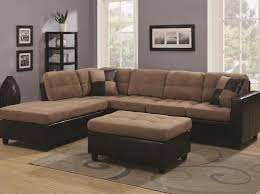 Black Microfiber Sectional Sofa With Chaise Black Microfiber Small Sectional Sofa With Reversible Chaise