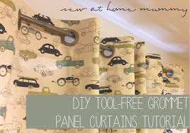 Curtain Grommet Tool Sew At Home Mummy Tutorial Tool Free Grommet Panel Curtains