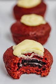 red velvet oreo cake bites plate of yum