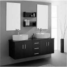 Double Vanity Cabinet Black And White Bathroom Shower Curtain Deluxe White Ceramic