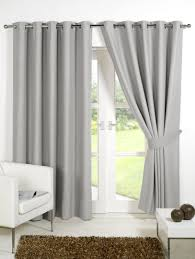 Eyelet Curtains Faux Silk Blackout Lined Eyelet Curtains 6 Colours Homevibe