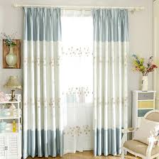 Cheap Nursery Curtains Baby Blue Flocking Crafts Cheap Curtains
