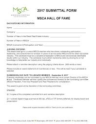 Resume Waiter Minnesota Shopping Center Association 2017 Msca Hall Of Fame Form