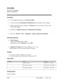Sap Abap Sample Resume by Standard Resume Examples Updated Resume Format 2016 Updated