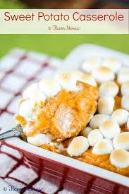 Traditional Thanksgiving Recipes Sweet Potato Casserole With Marshmallows Flavor Mosaic