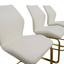 Dining Chairs White Leather 40 Off Nicole White Leather Dining Chairs Chairs