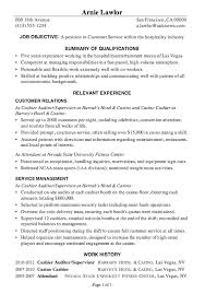 Sample Of A Customer Service Resume resume sample customer service hospitality