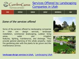 services offered by landscaping companies in utah