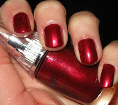 notd trind caring colors nail polish iridescent red cc118