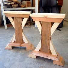 X Table Base Chunky X Base Table A How To Woodworking Shop Pinterest