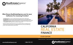california real estate finance study edition by