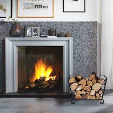 amagabeli fireplace log holder and carrier birch logs bin fire