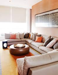 Modern Leather Sectional Sofa U Shaped Sectional Living Room Modern With Modern Leather