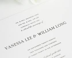 wedding programs wording sles traditional wedding invitations in black and white wedding