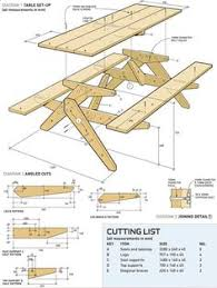 Picnic Table Plans Free Large by Folding Bench And Picnic Table Combo Complete Plans Wooden Chair