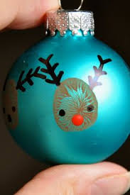 adorn your tree with this fingerprint reindeer ornament