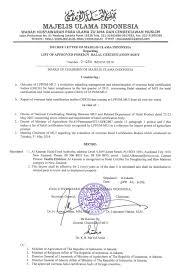 Certification Approval Letter List Of Approved Foreign Halal Certification Bodies
