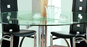dining table with rotating steel modern dinette w glass top rotating table