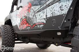 jeep wrangler rock lights offroad crusader rock sliders w led rock lights for 2 door jeep