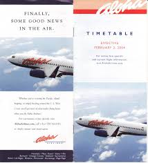 Skywest Route Map by Airline Timetables Aloha Airlines February 2004