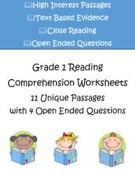 reading comprehension worksheets grade 1 11 passages with