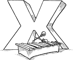 xylophone printable free alphabet coloring pages alphabet