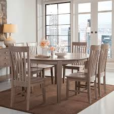Mission Dining Room Chairs Cosmopolitan Weathered Grey Dining Room 5 Piece Set Oval Table