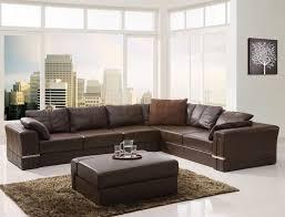 Sofa Made In Italy Living Room Dima Malaga Brown Leather Sectional Sofa Italian
