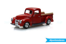 Classic Ford Truck 1940 - 1940 ford pickup truck red 1 24 scale american classic die cast