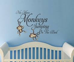 large no more monkeys jumping on the bed vinyl words wall quote large no more monkeys jumping on the bed vinyl words wall quote design decal monkey jungle
