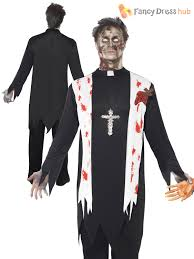 Nun Halloween Makeup by Mens Ladies Zombie Bloody Nun Vicar Priest Halloween Fancy Dress