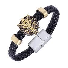 leather bracelet wristband images 2016 new anime game final fantasy wolf symbol leather bracelet jpg