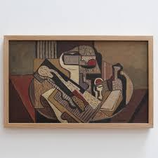bureau d ontable cubist still on table by unknown c 1950s bureau of