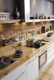 kitchen with brick backsplash kitchen brick backsplash design ideas donchilei