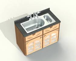 Free Standing Sink Kitchen Small Kitchen Sink Unit Sinks Gray Rectangle Modern Metal Free