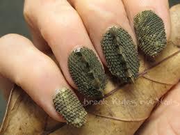 reptile skin nail art break rules not nails