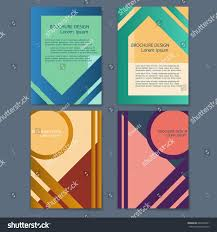 vector set retro style cards geometric stock vector 604705991