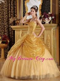 dresses for sweet 15 2013 new sequins gold tulle dress for sweet 15 with sweetheart