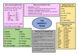 gcse french revision the imperfect tense by audebie teaching