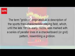 where did the term gridiron come from