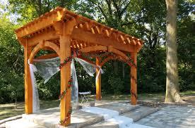 Gazebo En Bois Plan For An Easy 16 U0027 X 20 U0027 Diy Solid Wood Pergola Or Pavilion