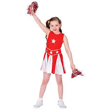 kids high cheerleader cheer dress halloween costume